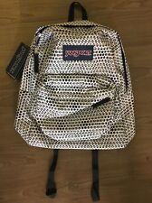 Jansport Super Break Black White Urban Optical Print Backpack NWT