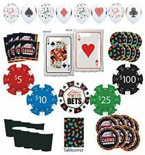 Mayflower Products Casino Party Supplies 8 Guest Entertainment kit and Poker ...
