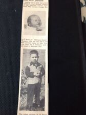 62-12  1963 Ephemera Margate Bimbo Club Paul Michael Thomas Ontario Canada