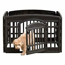 Exercise Pet Playpen, 4 Panels With Door, 24 Inch, Cats, Dogs, Pet Gate, New!