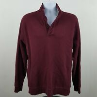 Brooks Brothers 1818 Burgundy/Red Men's Polo Sweater L/S Size Large L