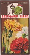 BON POINT PUBLICITAIRE LEONARD LILLE/ LYON GRAINES POTAGERES/OEILLET-MARGUERITE