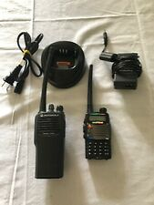 Motorola CP200 4 Channel #5 Radio -with Charger  Bonus Baofeng FM Transceiver