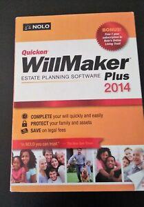 WillMaker Plus 2014 by Quicken >ESTATE PLANNING SOFTWARE >New!!