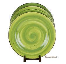 Set of 2 Dinner Plates, SUPERB Condition! Hausenware, Twist Green