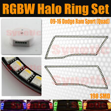 09-16 Ram Angel Eye LED Halo Ring RGB Multi-Color Bluetooth Quad Sport Headlight