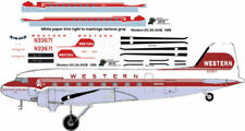 Western Air Line final Douglas DC-3 C-47 airliner decals 4 Minicraft 1/144 kits