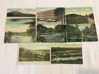 8 Vintage Post Cards of Greenfield Massachusetts All Posted