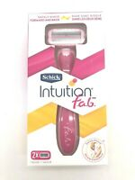 Schick Intuition Razor Handle f.a.b Replacement Razor Blade Plus 2 Refills