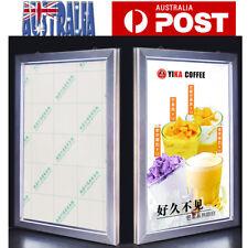 A1 A2 A3 LED Clip Snap Frame Display Sign Light Box Menu Board Backlit Poster AU