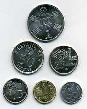 Kursmünzensatz Spanien KMS 1980 Fußballweltmeisterschaft 1982 ST M_458