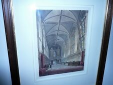 ANTIQUE HANDCOLOURED ENGRAVING c1814 TITLED CHAPEL OF NEW COLLEGE BY J.C.STADLER
