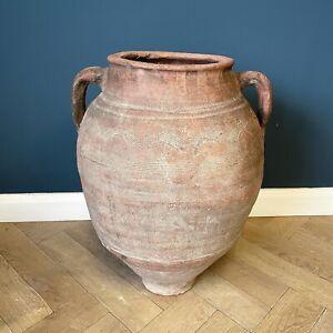 Antique Large Pot Rare Mediterranean Pottery Big Olive Oil Jar Pots Terracotta