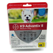 Bayer K9 Advantix II Flea Tick Mosquito Treatment for Medium Dogs Free Shipping