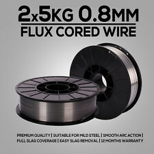 2x 5kg 0.8mm Gasless Mig Welding Wire E71T-GS Flux Cored Welder Wire Mild Steel