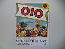 advertising Pubblicità 1982 OLIO OIO