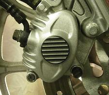 Set of Harley Sportster Finned Black Two-Tone Brake Caliper Insert 04 to 13
