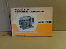 USED 1973 HONDA E 900 PORTABLE GENERATOR OWNER'S MANUAL-428462