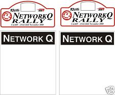 2000 NETWORK Q PLATE DECAL SET