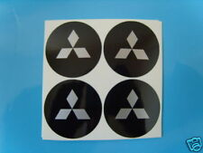 4x 50 mm fits mitsubishi wheel STICKERS center badge centre trim cap hub alloy