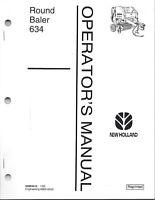 New Holland 634 Round Baler Operator Manual 42063410*