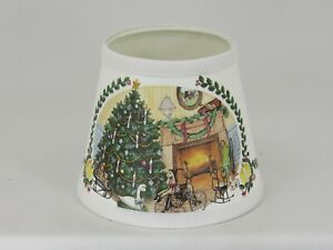 "Albert Estate LTD., 6"" Christmas Tree Shade with White Trim"