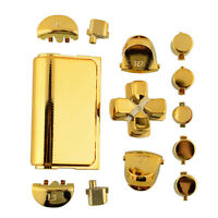 Fashion Buttons Mod Set Chrome Gold For Sony Playstation 4 PS4 Gamepad Joystick