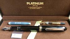 Platinum 3776 Century fountain pen, MUSIC nib, black & rhodium