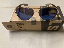 ! Costa Del Mar Womens Loreto Polarized Aviator Sunglasses Rose Gold/Grey Blue
