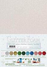 10 FOGLI di foam glitterato A4 bianco spessore 1,7 mm MOOSGUMMI per fiori Foa...