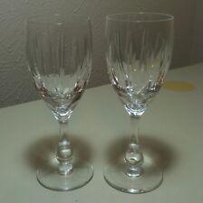 "Vintage Tudor Crystal Hawkins Wine Goblet 6 5/8"" England Set Of 2 VHTF"