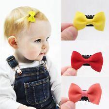 Newborn Baby Cute Flower Headwear Infant Kids Mini Bow Hair Clips Color Random