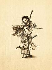 Warrior  - Japanese fine art print 1878