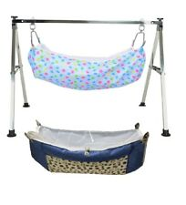 Smart Baby Products Folding Steel Square Pipe Cradle with two hammock KT125