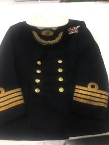 Vintage Royal Navy Officer Captains Uniform and Cap