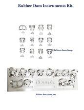 Instruments pour Digue Clamps Stand Rubber Dam Dental Kit Crampons Endodontics