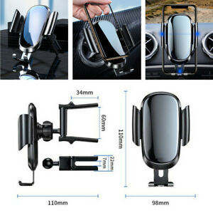 Aluminum Alloy Firmly Clamp Phone Mount Holder Bracket for Car Round Air Vent