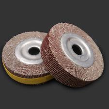 """2Pcs Abrasive Flap sanding Wheels 100x16mm 80 Grit 4'' Inch Dia, 16mm 5/8"""" Bore"""