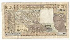 New listing West African States, Ivory Coast 1000 francs 1981 A T.006