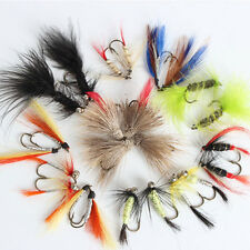 12pcs Fly Fishing Lures Artificial Bait Trout Fly Fishing Hooks Tackle +Case Box