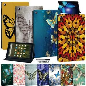 Leather Tablet Stand Flip Cover Case For Amazon Fire7(5/7/9th) HD8 (6/7/8/10th)