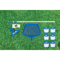 Intex Cleaning Maintenance Swimming Pool Kit with Vacuum, Pole, and Filters