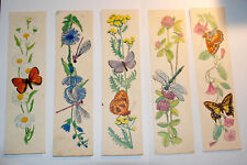 Soviet bookmarks different, Set of 5 Old