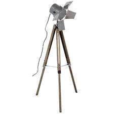 Vintage/Retro Metal & Wood Tripod Spotlight Floor Lamp H:140CM RRP £165 Designer