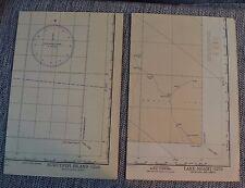 2 WWII Restricted Aeronautical Charts Pilot Maps Lake Ngami Africa & Nukutipipi