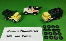 Aurora Model Motoring Tjet Silicone Ribbed Truck Tires HO slot car 16 Piece Lot