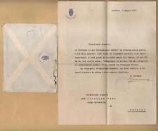 1919 lettera del SINDACO di TRIESTE ALFONSO VALERIO al Prof. GIUSEPPE ODDO