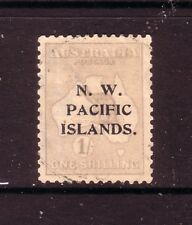 N.W.PACIFIC Is....  1915  1/- emerald used, 2nd watermark, type A opt.