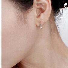 Quality Small Thin Endless Hoop Earrings Round LC