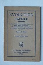 EVOLUTION RACIALE D APRES LE DR HANISH - G & C BUNGE -  ED MAZDEENNES - 1934 *